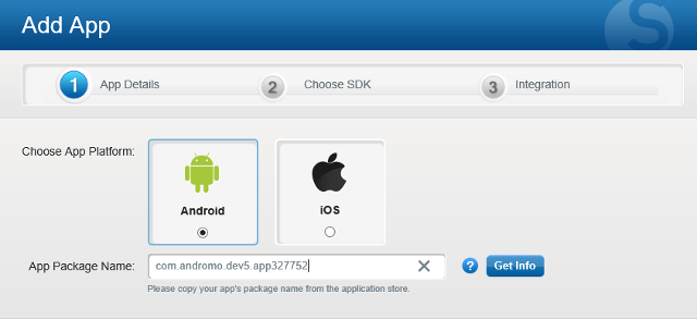 Setting Up StartApp Ads   Andromo Support