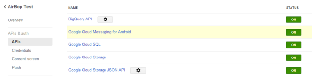 Setting Up AirBop on the Google Cloud Console | Andromo Support