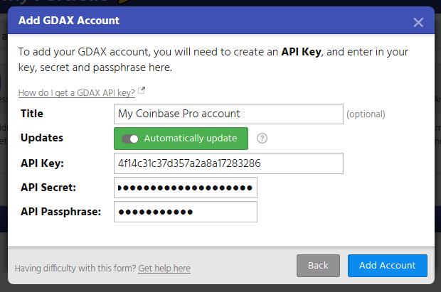 Not known Details About Coinbase Api Secret