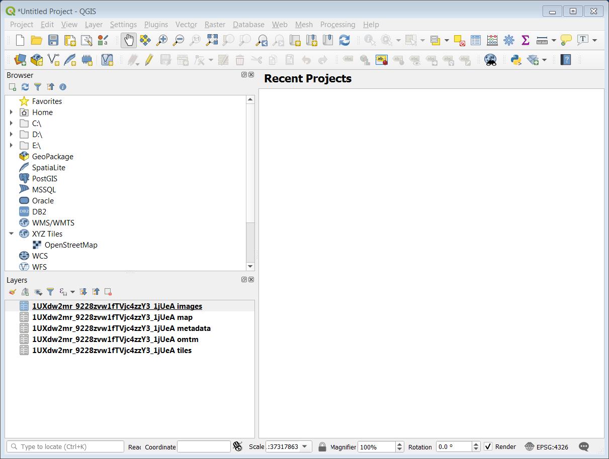 Open custom extract in QGIS3? | MapTiler Support