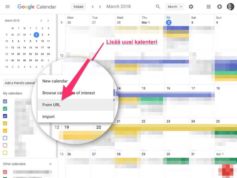 Miten tapahtumat synkronoidaan omaan Google- tai Outlook-kalenteriin? | Nimenhuuto tuki ja palaute