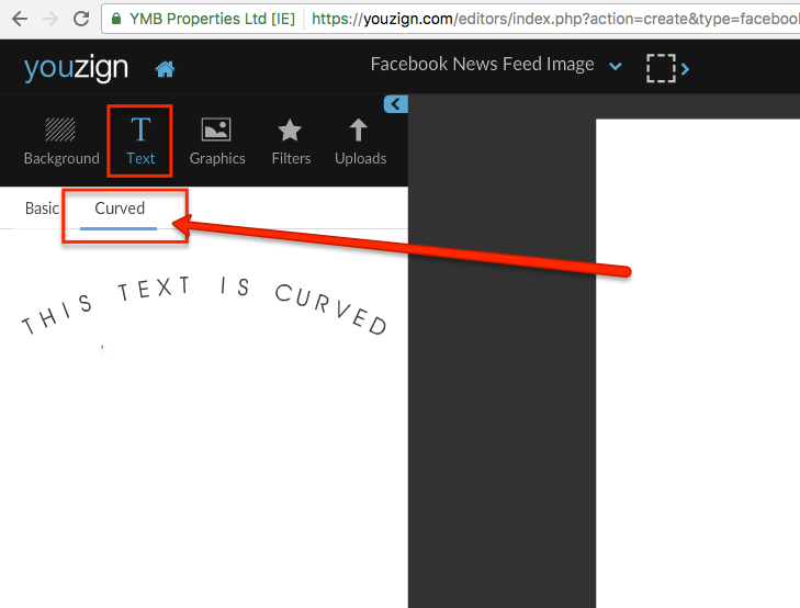 How to use the Curved Text tool – Knowledgebase
