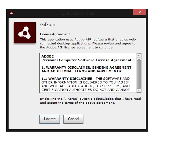 this application requires a version of adobe air which cannot be found