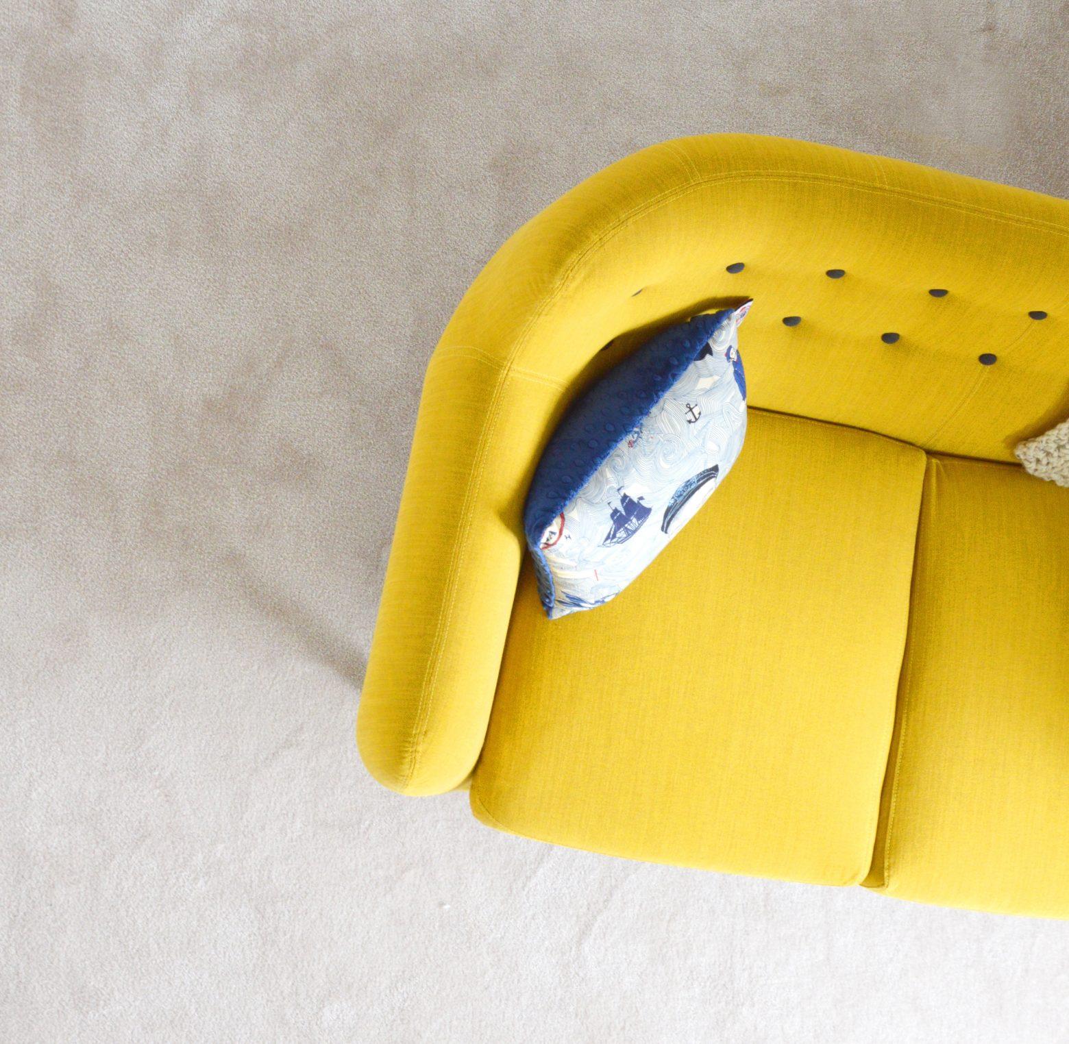 Sofa and pillow