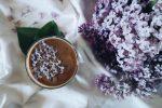 Violet petals in a bowl