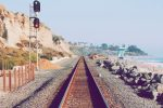 Railway along the beach