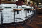 Bar chairs at the restaurant
