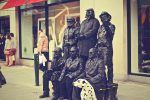 The statues in the street