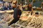 Frozen fish stall
