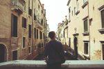 Man Watching Building