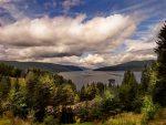 Beautiful Cloudy Mountain Landscape
