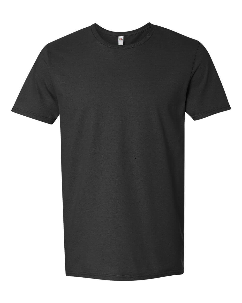 Fruit-of-the-Loom-Mens-Sofspun-Black-Custom-T-Shirts