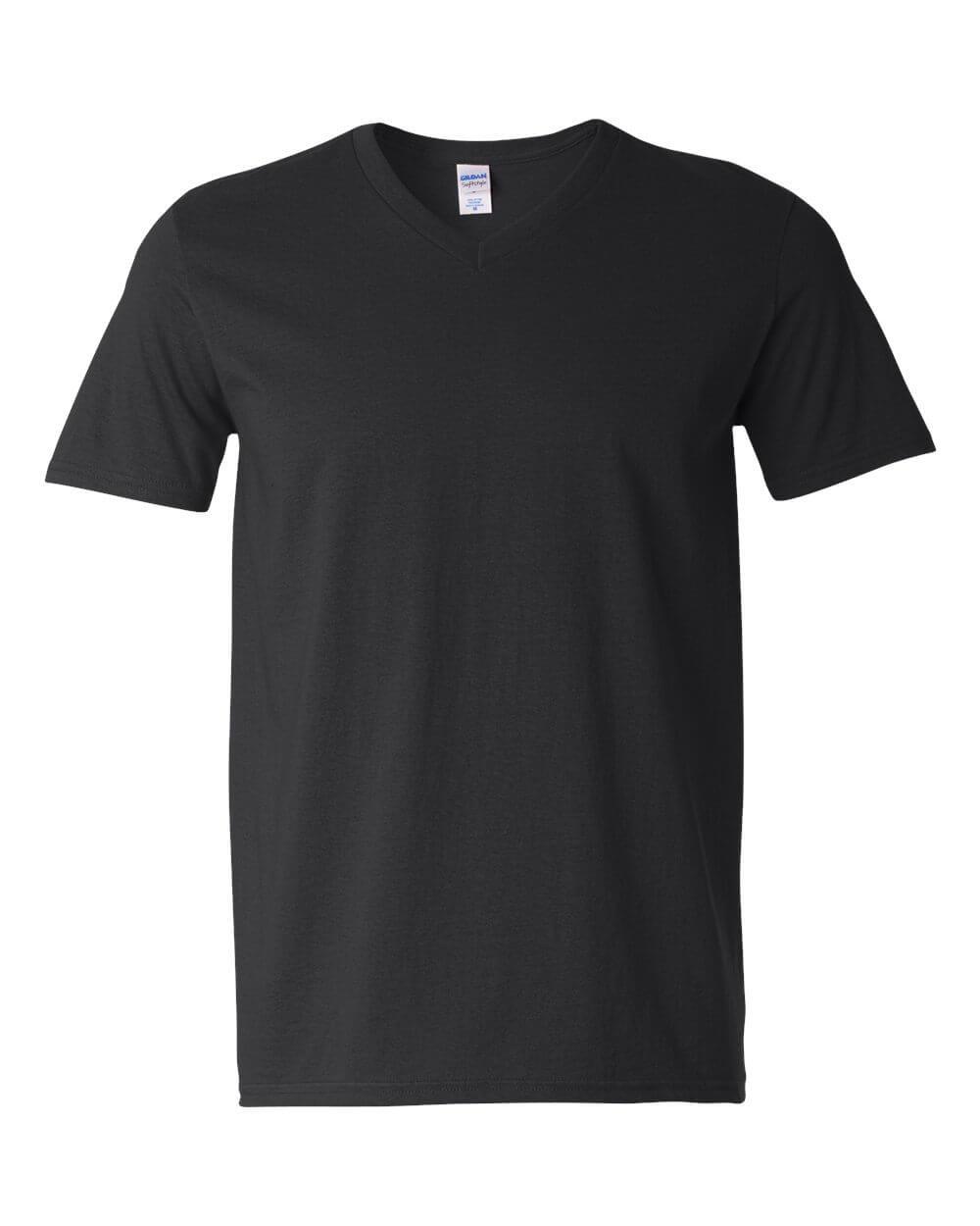Gildan-Mens-Softstyle-V-Neck-Black-Custom-T-Shirts-1