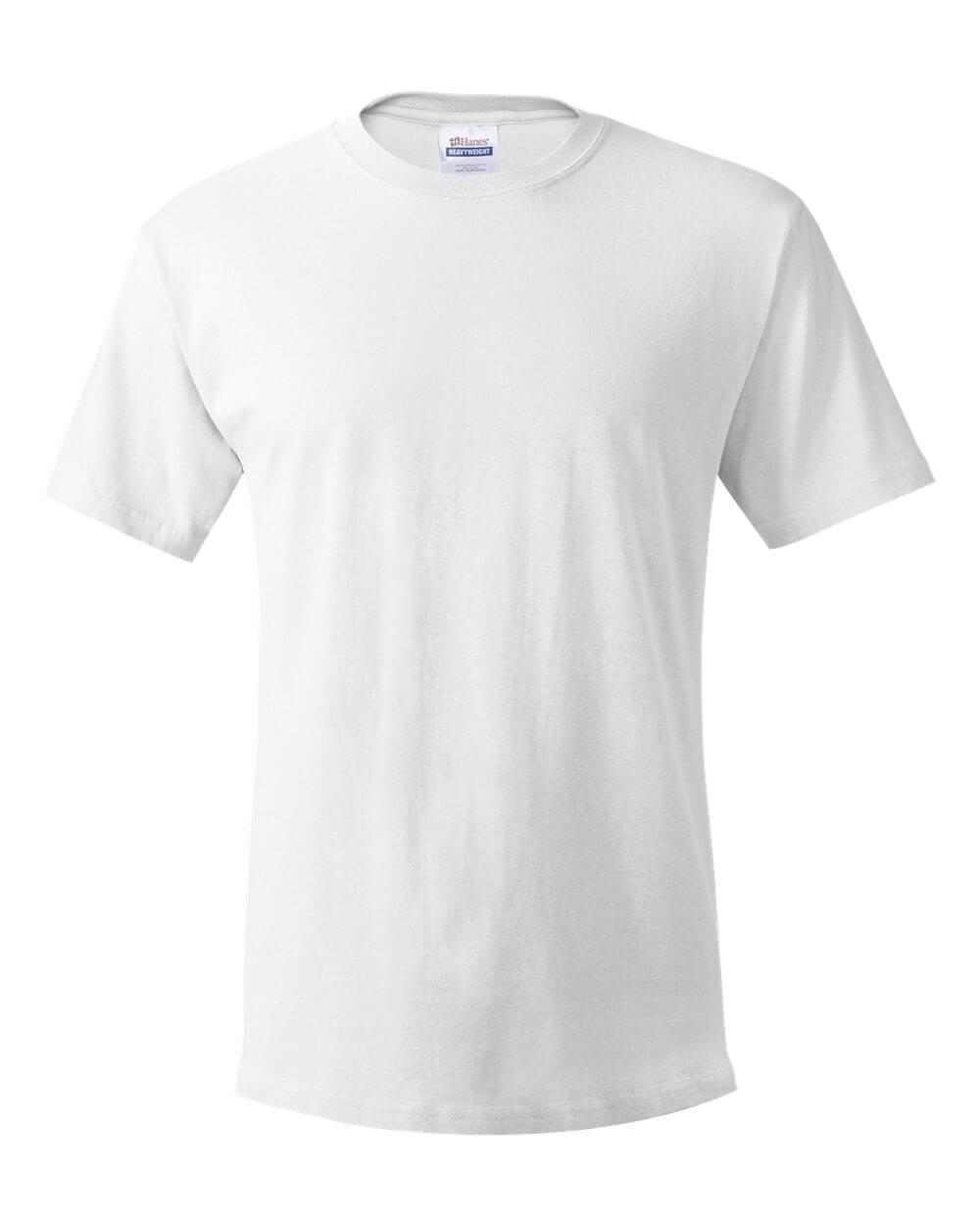 Hanes_White Custom T Shirts