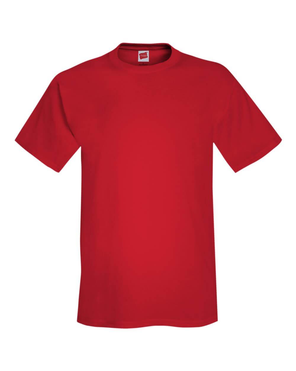 Hanes Comfortsoft Red Custom T Shirts