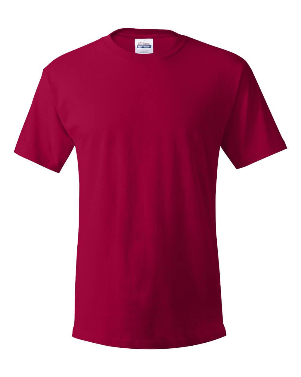 Hanes Ecosmart Red Custom T Shirts