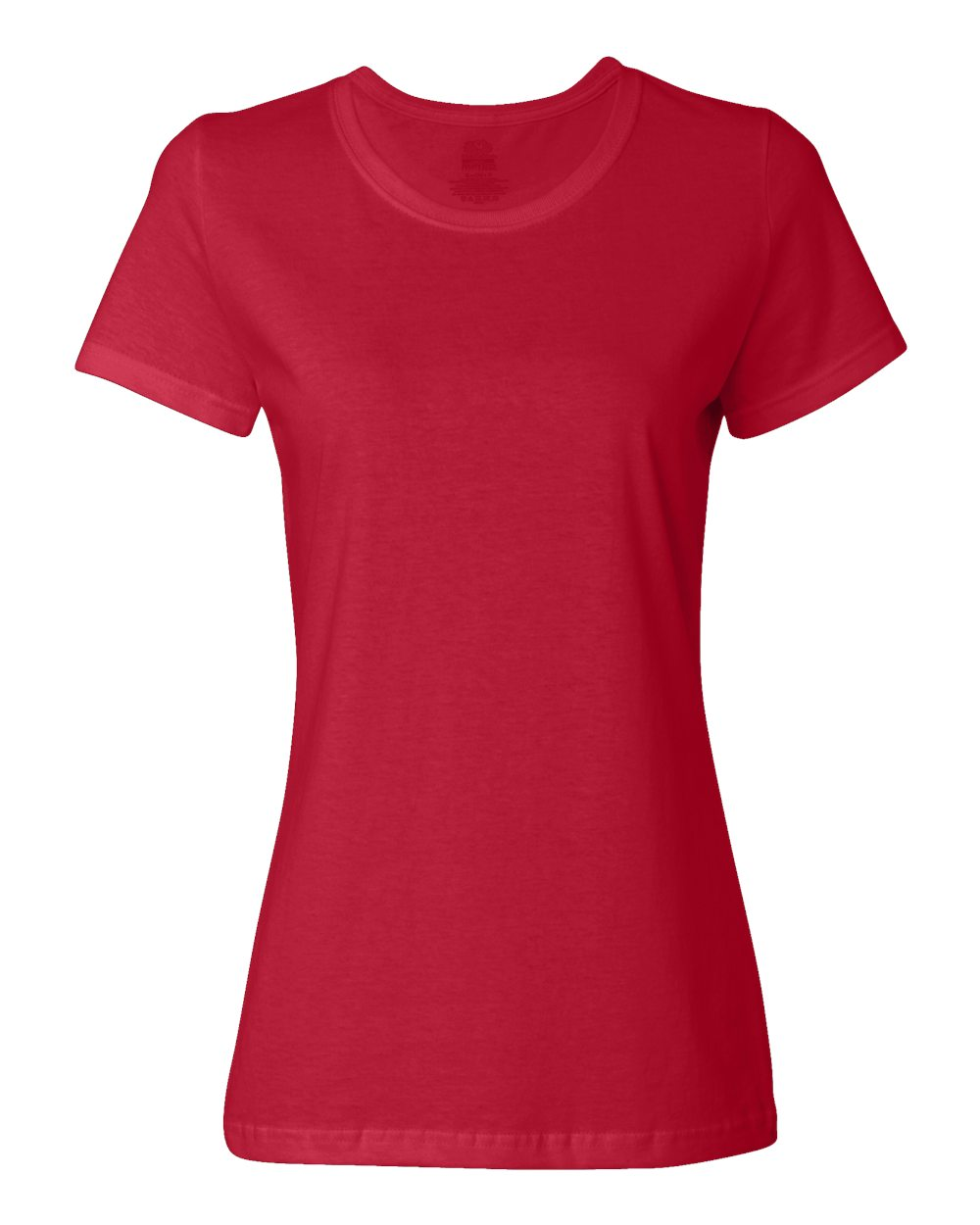 Fruit of the Loom Womens Red Custom T Shirts
