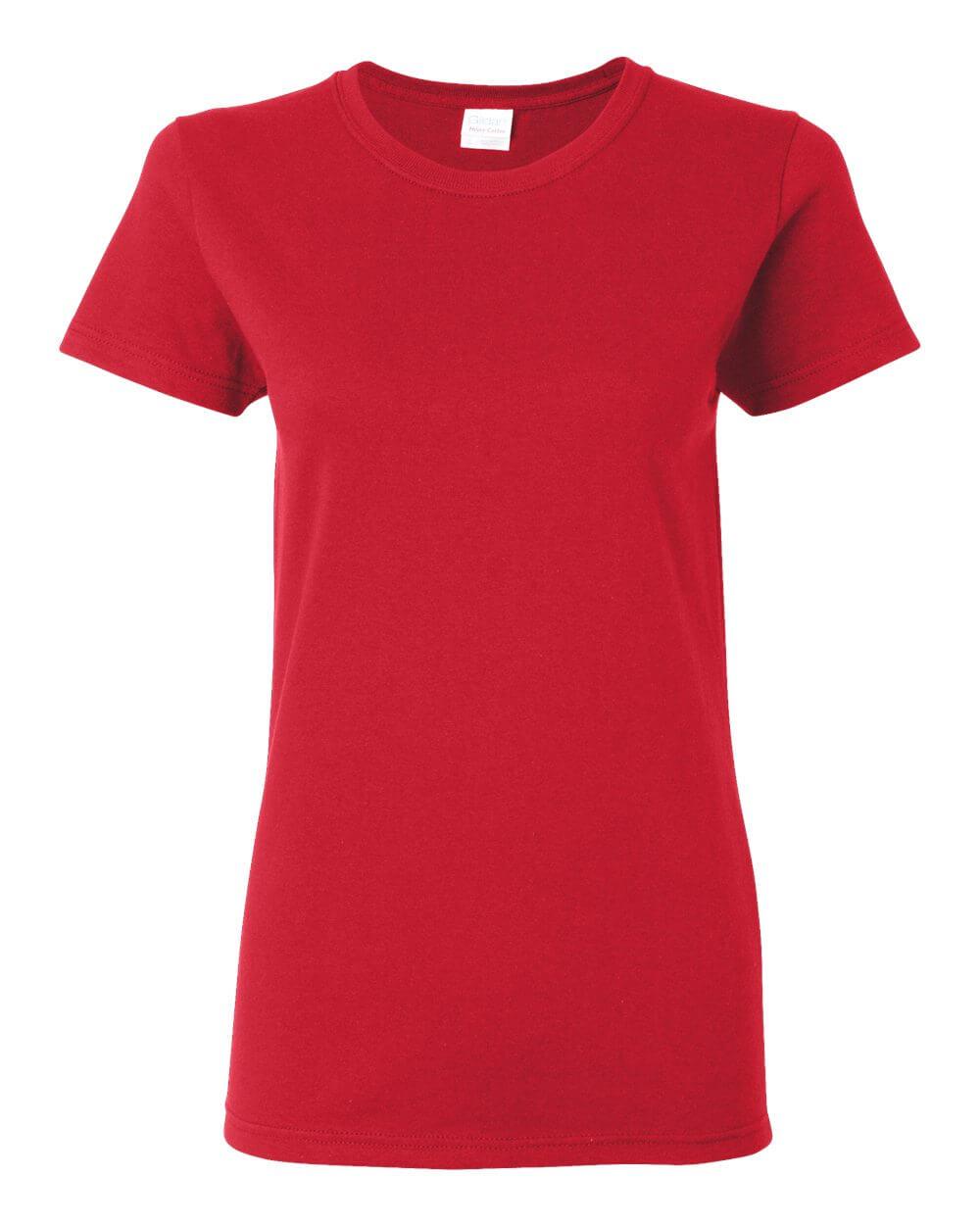 Gildan G5000L Women's Red Custom T Shirts