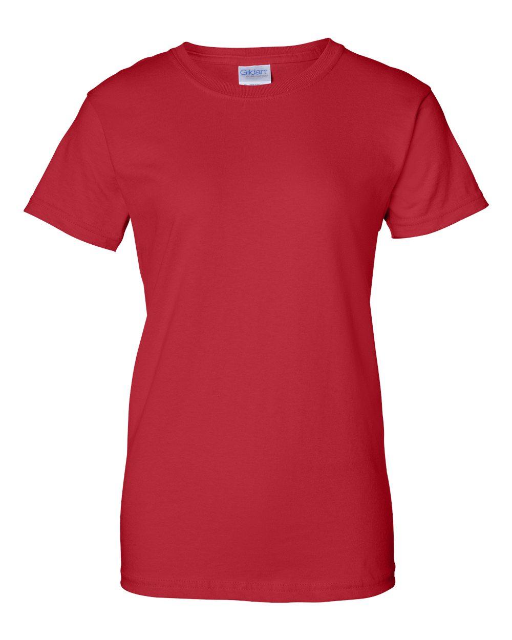 Gildan G2000L Womens Red Custom T Shirts