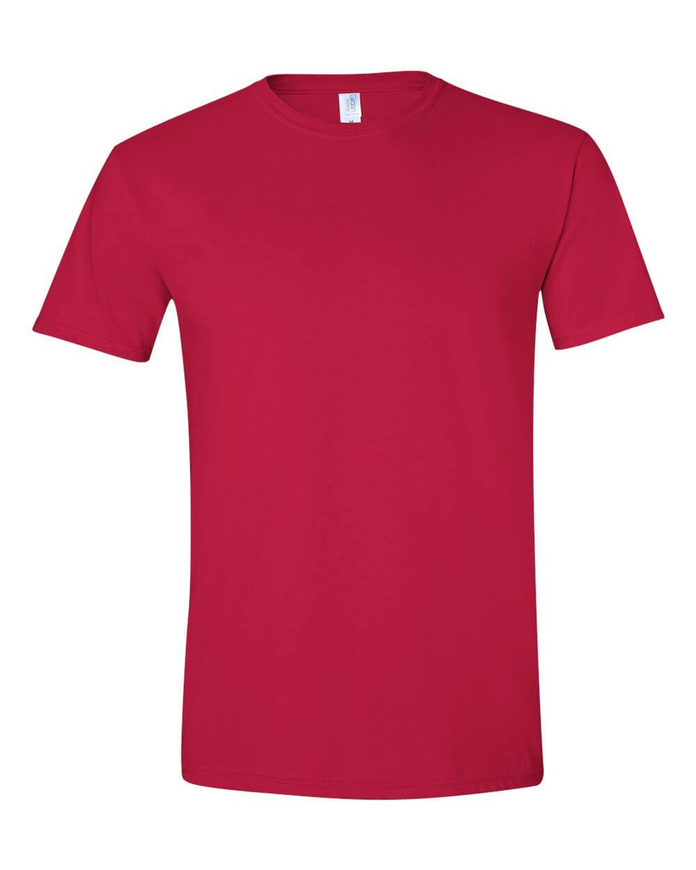 Gildan Soft Style Red Custom T Shirt