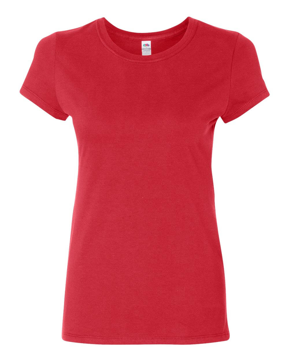 Fruit of the Loom Womens's Sofspun Red Custom T Shirts