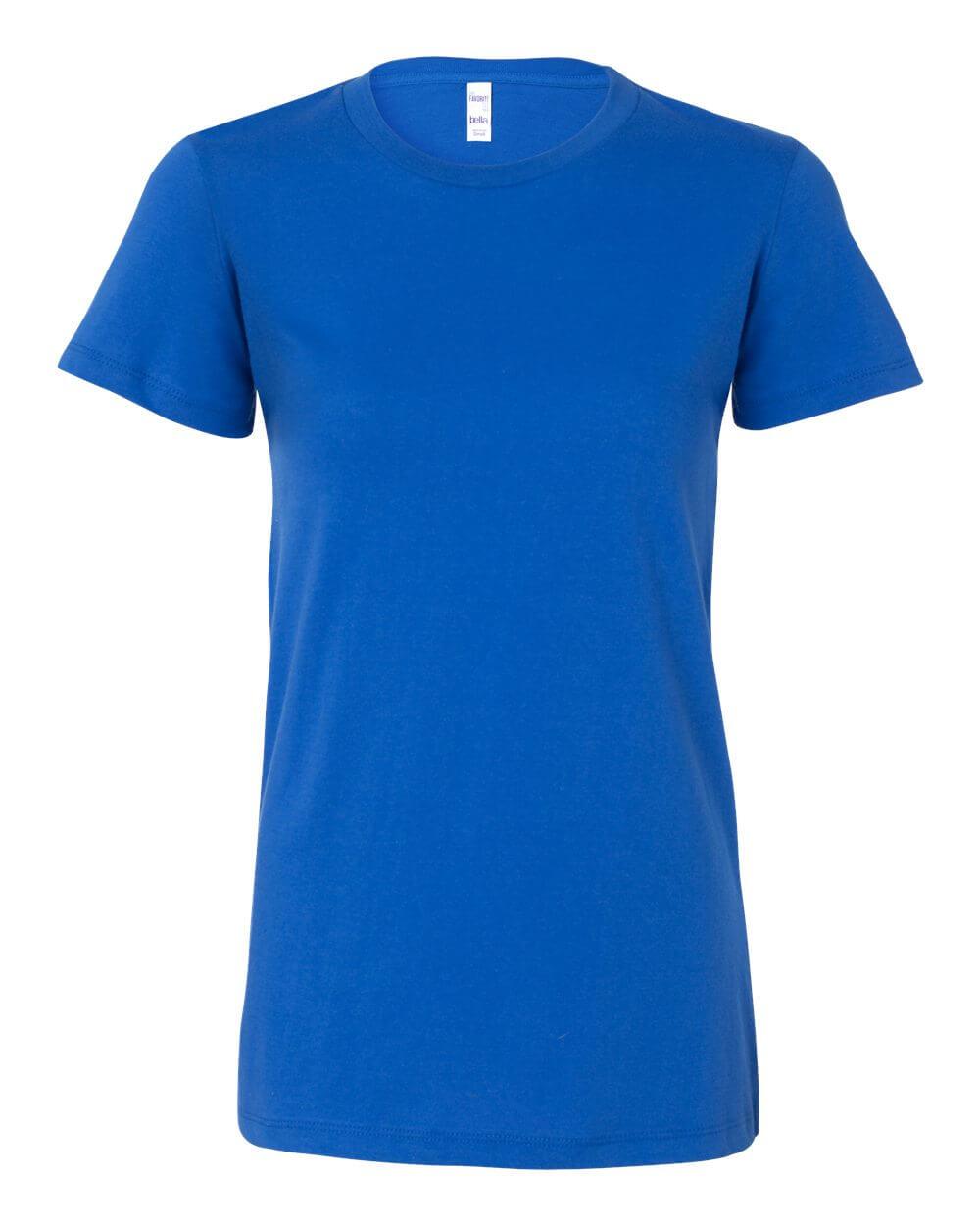 Bella__Canvas_6004_True_Royal Blue Custom T Shirts