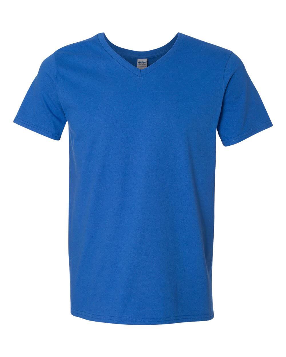 Gildan_64V00_Royal Blue Custom T Shirts