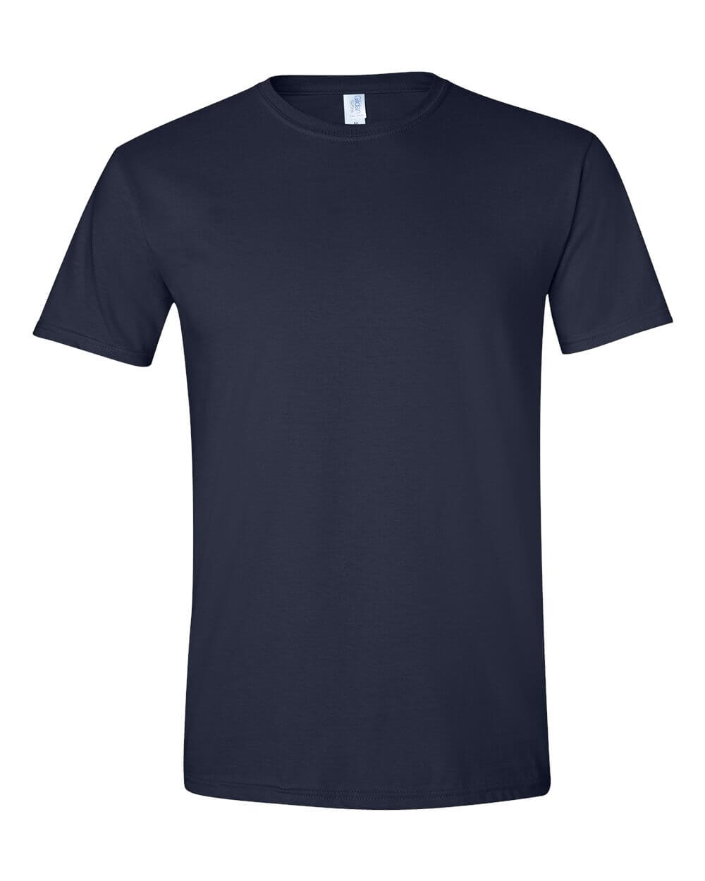 Gildan Soft Style Navy Blue Custom T Shirts