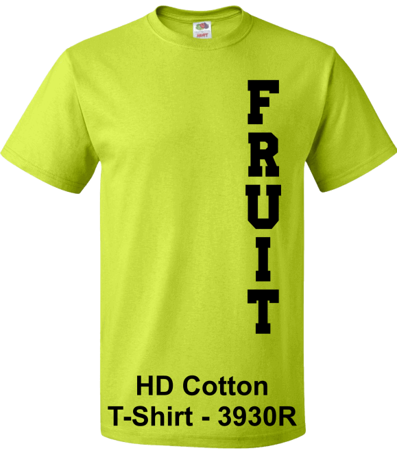 Fruit-of-the-Loom-3930-Safety-Green-T-Shirts