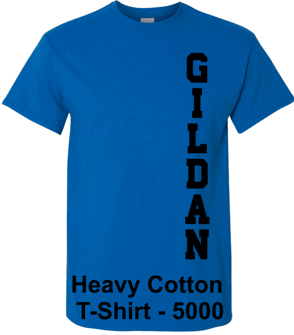 Gildan-Heavy-Cotton-Neon-Blue-T-Shirts