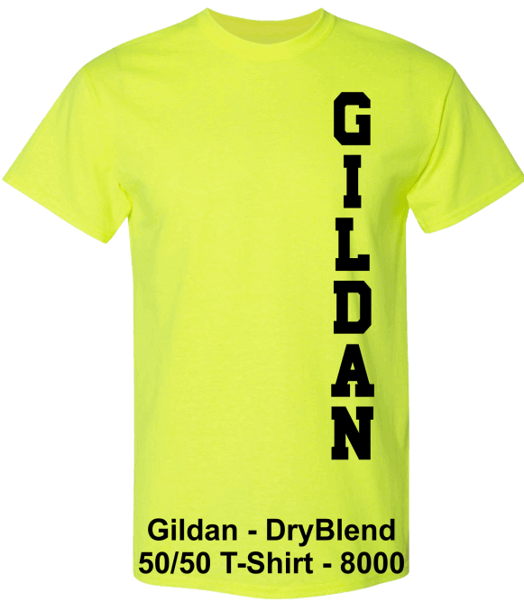 Gildan-DryBlend-50-50-Safety-Green-T-Shirts