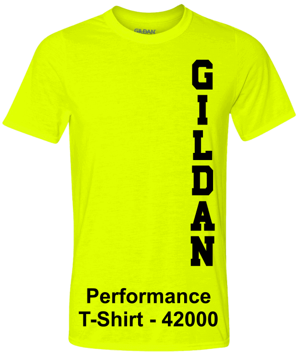 Gildan-Performance-42000-Safety-Green-T-Shirts