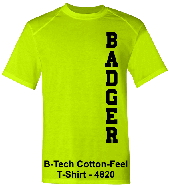 Badger-B-Tech-Cotton-Feel-4850-Safety-green-T-Shirts
