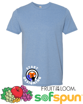 Cheap Screen Printing Fruit of the Loom Sofspun T-Shirts