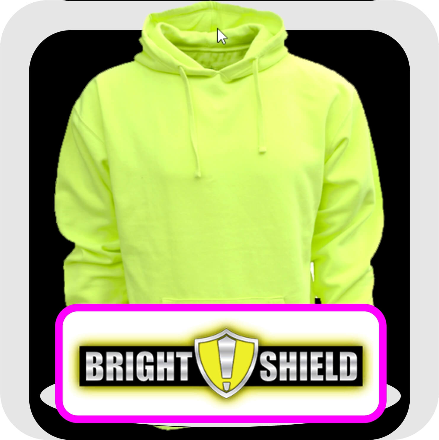 Bright-Shield-Hoodies-Safety-Green
