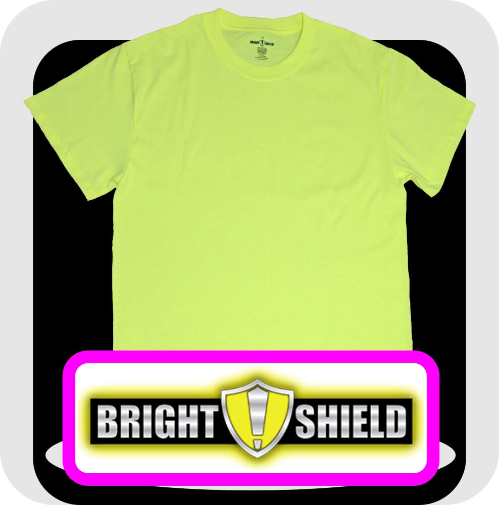 Bright Shield Basic Safety Green Shirts