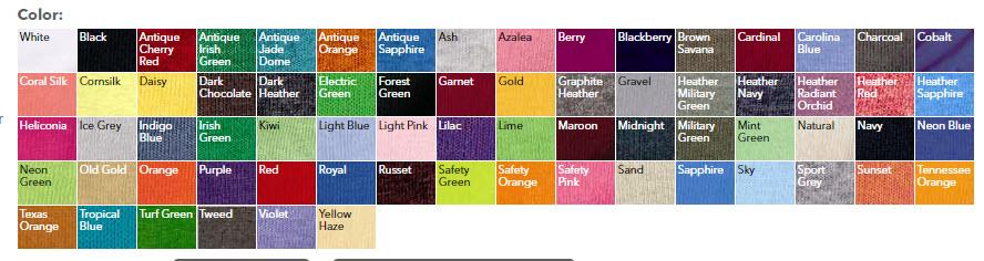 Cheap Custom Shirts Gildan Adult Colors