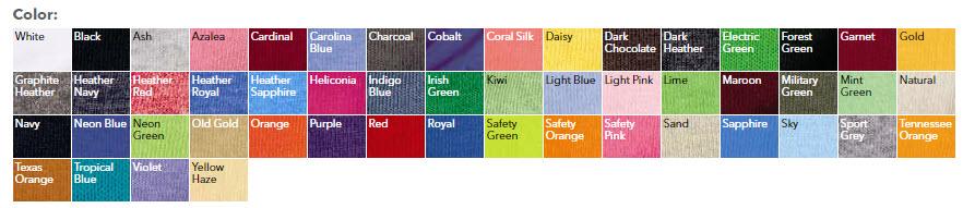 Gildan-Youth-T-Shirt-colors