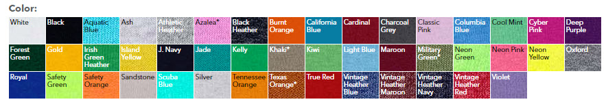 Jerzees-Dri-Power-Youth-cheap custom shirt colors