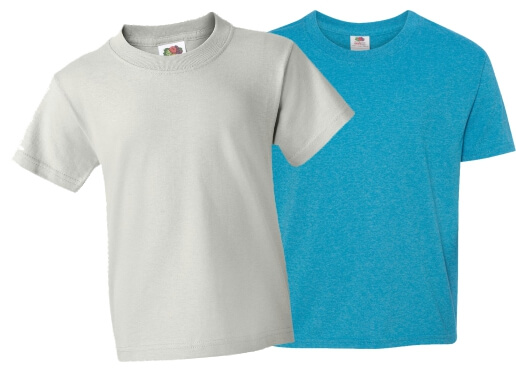 Cheap Custom Shirts Youth Fruit of the Loom