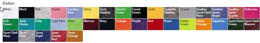 Cheap Custom Printed Shirt Youth-Colors