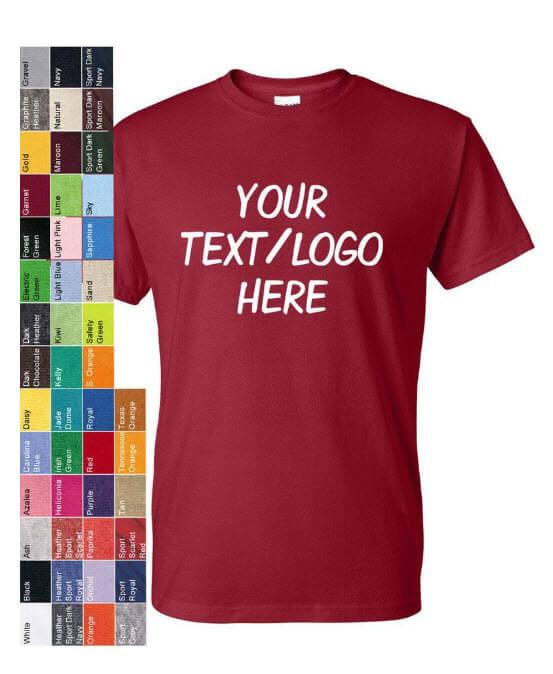Custom Make Gildan DryBlend T Shirts