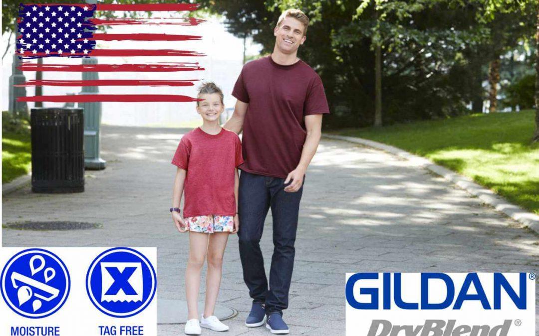 Gildan DryBlend 50-50 T-Shirt / Cheap Custom Printed T Shirts