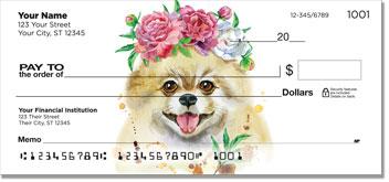 Pomeranian Pop Art Personal Checks