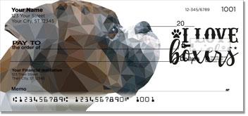 Boxer Dog Silhouettes Checks