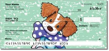 Brittany Spaniels Cartoon Series Personal Checks