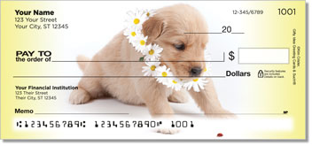 pups in Bloom Series 2 Personal Checks