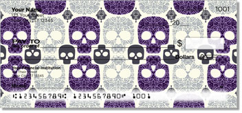 Damask Skull Checks