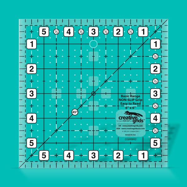 """Creative Grids Basic Range 4/"""" Square Quilting Ruler Template"""