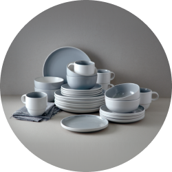 Add some Scandinavian style to your place settings with this durable 16-piece dinner set.